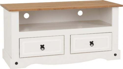 Corin White Flat Screen TV Unit